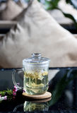 Scented tea. Afternoon, a cup of scented tea royalty free stock images