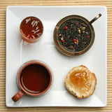 sceny śniadaniowa herbata Zdjęcie Stock