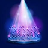 sceny iluminujący światło reflektorów 2016 Nowy Year ilustracji