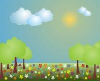 sceny krajobrazowa wiosna zdjęcia stock