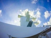 Sceny na pokładzie statku wycieczkowego linerin pokojowy ocean Zdjęcia Stock