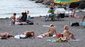 Sceny od Amalfi wybrzeża w Włochy zbiory wideo