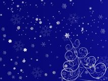 sceny płatka śniegu świerczyna Zdjęcia Stock