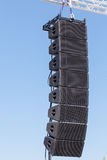 Sceny rozsądny wyposażenie Potężnego scena koncerta przemysłowi audio mówcy Obraz Royalty Free