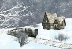 sceny zima ilustracja wektor
