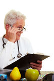 Sceptical doctor Royalty Free Stock Photo