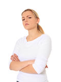 Sceptical looking woman Stock Photo