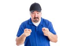Sceptyczny mężczyzna pokazuje jego niewiarę Zdjęcia Stock
