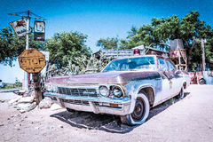 Sceriff汽车在塞利格曼, ARIZONA/USA 库存图片
