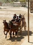 Sceriffo ed il suo delegato su uno stagecoach Fotografie Stock Libere da Diritti