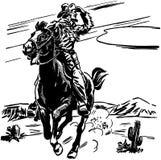 Sceriffo On Horse Fotografia Stock