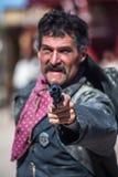 Sceriffo Points Gun Fotografie Stock Libere da Diritti