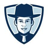 Sceriffo semplice in un distintivo Logo Illustration Vector fotografie stock libere da diritti