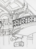 Scetch интерьера КАМЕДИ Москвы Стоковые Фотографии RF