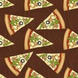 Scetch de modèle et pizza sans couture de couleur illustration stock