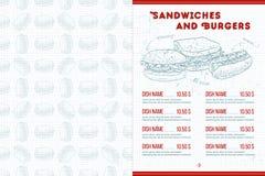 Scetch horisontal菜单设计 库存照片