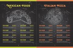 Scetch horisontal菜单设计 库存图片