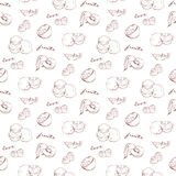 Scetch pattern fruit Royalty Free Stock Image