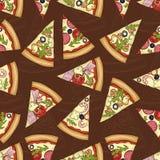 Scetch sans couture de modèle avec quatre types de pizza illustration de vecteur