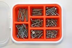 Scews do hardware Fotografia de Stock
