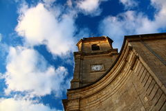 church with sky view Stock Image