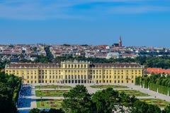 Schönbrunn pałac Wiedeń Austria fotografia royalty free