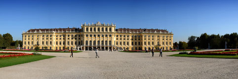 Schönbrunn Palace - panorama Royalty Free Stock Images
