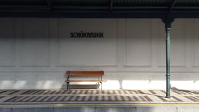 Schönbrunn tunnelbanastopp royaltyfria bilder