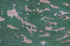 Schäbige alte grüne hölzerne Bretter der Beschaffenheit Lizenzfreie Stockbilder
