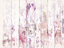 Schäbige Grungy beunruhigte hölzerne Bodenbelagbeschaffenheit mit weißer Farbe Stockfoto