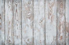 Schäbige hölzerne Planken, Weiß und Siena brünieren Stockfoto