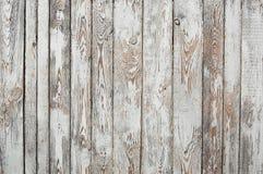 Schäbige hölzerne Planken, Weiß und Siena brünieren Lizenzfreies Stockfoto