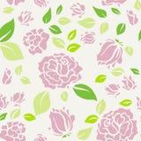 Schäbige schicke Rose Pattern und nahtloser Hintergrund stockbild