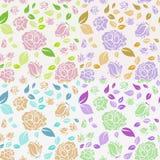 Schäbige schicke Rose Pattern und nahtloser Hintergrund lizenzfreie stockfotografie