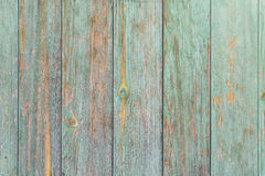 Schäbiger Aquamarin farbige hölzerne Wand lizenzfreie stockbilder