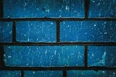Schäbiger blauer Ziegelstein blockiert Nahaufnahmebeschaffenheit Lizenzfreies Stockbild