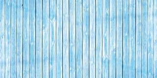 Schäbiger schicker Hintergrund von den alten hölzernen Planken weich gemalt im Blau lizenzfreie stockfotos