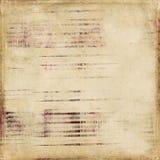 Schäbiger Weinlese-Antike-Streifen-Einklebebuch-Hintergrund Stockbild