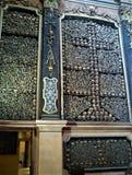 Schädel in der San- Bernardinoalle Ossa-Kirche in Mailand Stockbilder