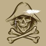 Schädel des Piraten Stock Abbildung