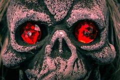 Schädel-Halloween-Dekorations-Skeleton gespenstischer Stützen-Feiertags-Gegenstand C lizenzfreie stockfotografie