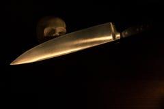 Schädel, Halloween-Hintergrund Stockbilder