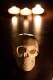 Schädel, Halloween-Hintergrund Lizenzfreies Stockbild
