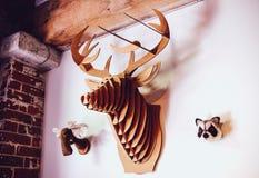 Schädel hergestellt durch Papier lizenzfreie stockfotos