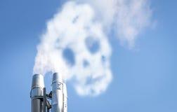 Schädel im Smog Lizenzfreies Stockfoto