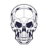 Schädel-Kopf ilustration des geometrischen Stils Stockfotografie