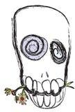Schädel mit Blumen Stockfotos