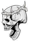 Schädel mit dem Dorn der Krone Lizenzfreies Stockfoto