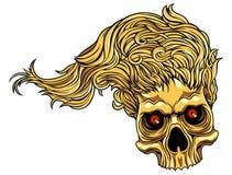 Schädel mit dem Haar Stockbild
