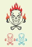 Schädel mit Feuer, Kunst Stammes- Lizenzfreie Abbildung